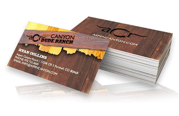 Great print materials like rack card, brochures and business cards are extremely important for branding your mountain business.